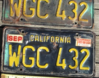1963-1977 California license plate pair