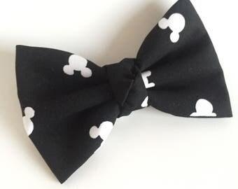 Fabric Bow - Mickey