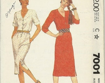 25% OFF McCalls  7001    Misses Dress for 'Stretch Knits Only'   Size 8     C1980