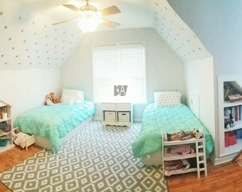 silver bedroom decals 8 point star decals geometric wall decor ceiling decals - Wall Decor In Bedroom