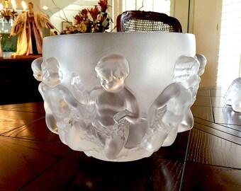 Lalique Luxembourg Vase or Bowl Excellent Condition