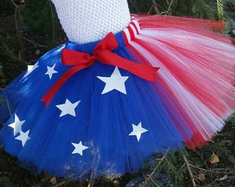 Fourth Of July Tutu Skirt, Tutu Skirt Only, 4th Of July Tutu, Memorial Day Tutu, American Tutu, Red White Blue Tutu