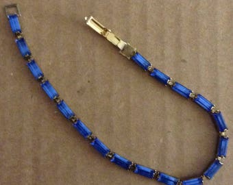 One, Vintage Rhinestone Tennis Bracelet
