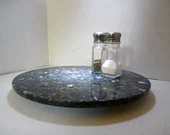 Lazy Susan, Granite Lazy Susan, Blue Pearl Granite Turntable, Table Centerpiece, Stone Lazy Susan