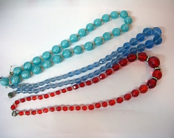 Three Glass Necklaces