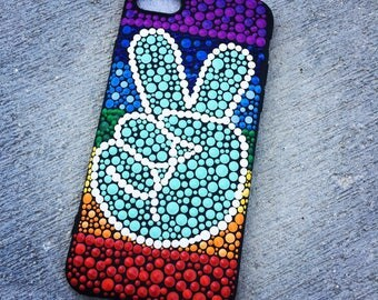 Hand painted Peace iPhone Case