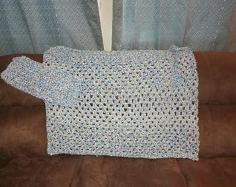 Crochet baby blanket with matching lovey