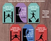 Ninja Warrior Birthday Party Favor Tags Thank You Obstacle Course Ninja Warrior Parkour Ninja Party Bag Topper Decorations Warped Wall