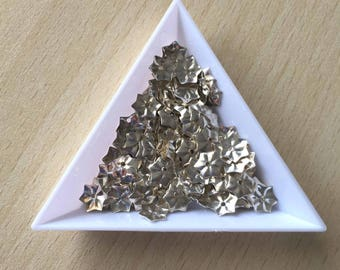 glitter metal silver 7 mm in loose floral 01