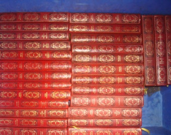 Set of 28 Dennis Wheatley Vinyl covered books by Heron Books.