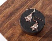 The Luna Earrings, Dangle Earrings, Delicate Earrings, Moon Earrings, Gold Earrings, Rose Gold Earrings, Silver Earrings, Gifts for her,