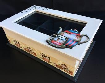 Tea Box, Clear Glass Lid