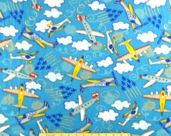 FLEECE Flying High Airplanes Fabric From Camelot