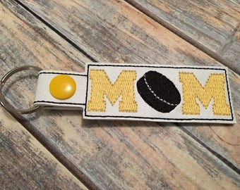 Hockey Mom - Key Fob In The Hoop - DIGITAL Embroidery DESIGN