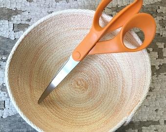 Medium Tangerine Round Bowl