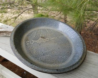 Gray Graniteware Pie Pan