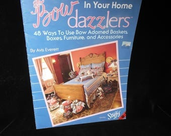 Bow Craft Book Bow Dazzlers in your Home by Avis Everrett Plaid 8402