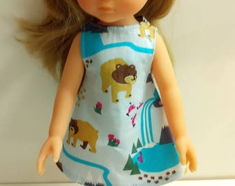 Corolle doll pinafore dress girls or 33cm doll hand-made. Cotton