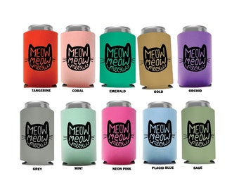 Cat Face Can Cooler