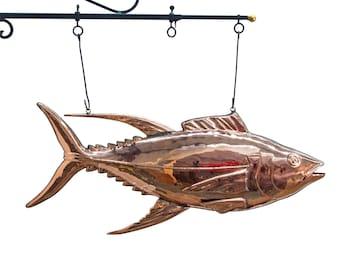 Fish Market TUNA FISH Copper SIGN 3d Restaurant Decor Sea Food Trade Sign Nice
