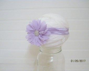 Lavender Headband, Newborn Headband, Baby Headband, lavender Flower, Photo prop, Flower Headband, baby shower gift, new baby gift, new mom