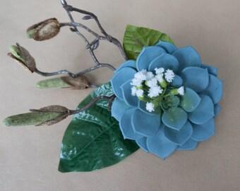 Flower Hair Clip - Succulent Sensation
