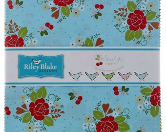 """Sew Cherry 2 5"""" Stacker 42 pieces by Lori Holt of Bee in my Bonnet for Riley Blake"""