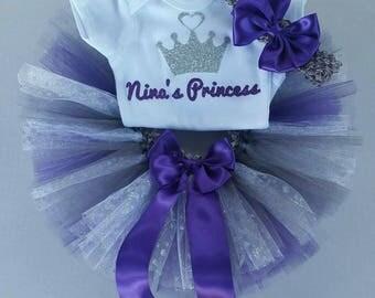 "Onesie and Tutu Set ""Nina's Princess"" (ON SALE)"