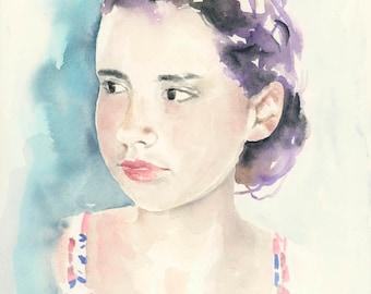 Custom Portrait. Painting from photo. Personalized painting. Modern art. Face painting.Baby portrait. Kids portrait