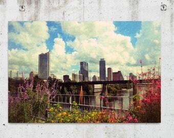 Austin Flowers - Cityscape, Scenic, Landscape, Photography - Austin, TX - Fine Art Print - Canvas Gallery Wrap - Metal Print