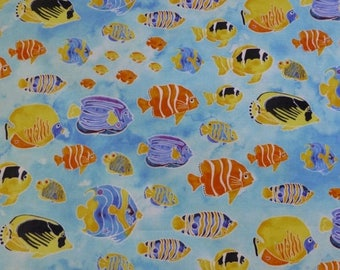 Clearance SALE Tranquil Tides -Sea Life -Fish~Cotton Fabric,~ Northcott~21033-62-Fast Shipping N312