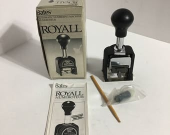 Vintage Bates Royall Auto Numbering Machine
