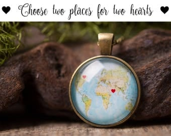 Custom map necklace etsy custom map necklace long distance relationship gift personalized necklace custom jewelry gift gumiabroncs Image collections