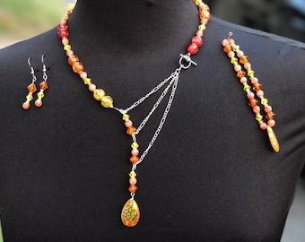 Orange & Yellow Jewelry Trio