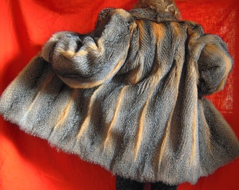 Real fur coat jacket southern grey fox mint condition