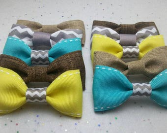 Party Favor Bow Ties (Set of 12 Burlap bow ties)