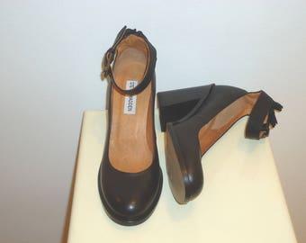 NIB! Steve Madden Black Leather Mary Janes, Sz.7 Free Shipping