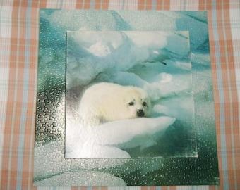 "Springbok ""Furry"" Jigsaw Puzzle 500 Pieces PZL2076 White Baby Harp Seal Puzzle Vintage"