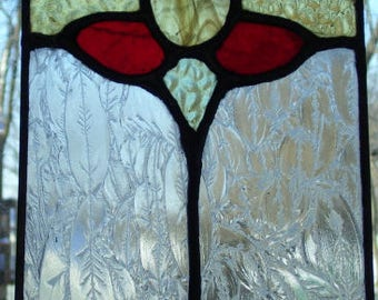 Reproduction Victorian stained glass panel