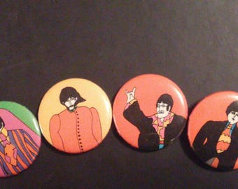 The Beatles Yellow Submarine Button Collection