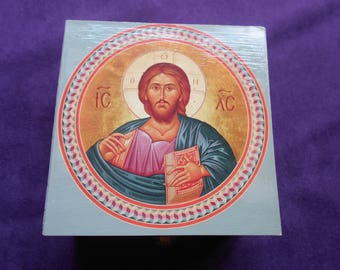 Holy Box with icon Christ on the cover