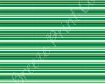 Green and white stripe craft  sheet - HTV or Adhesive Vinyl -  stripe pattern Christmas HTV3026
