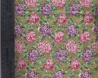 Hi Fashion Fabric mums purple, pink, gold leafing