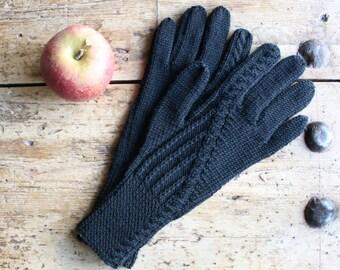 Merino Wool Gloves - Black