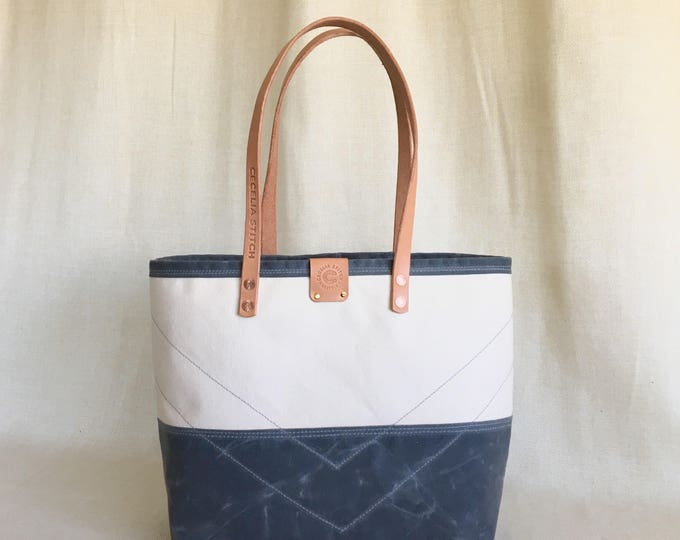 Bennington - waxed bottom tote FREE SHIPPING