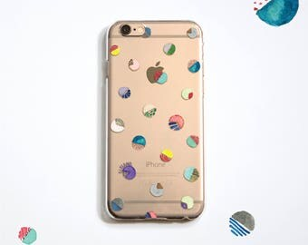The Water colour dot pattern phone case, for iPhone, Samsung