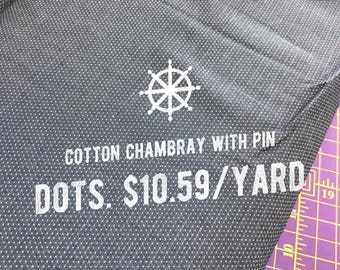 SRK-15578-67 DENIM from Cotton Chambray with Pin Dots fabric by Robert Kaufman