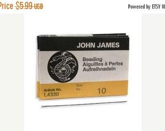 Summer Sale John James Needles, Size 10 English Beading Needle Qty 25 For Bead Weaving 10/0, English Longs Needles