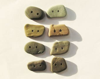 Stone buttons rock buttons Natural buttons set of 8 knitting buttons sewing buttons scrapbooking craft buttons ooak unique buttons (SBT-33)