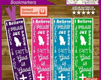 Christian Bookmarks, Bookmarkers, Hanging Tags -  Printable Digital File & Instant Download